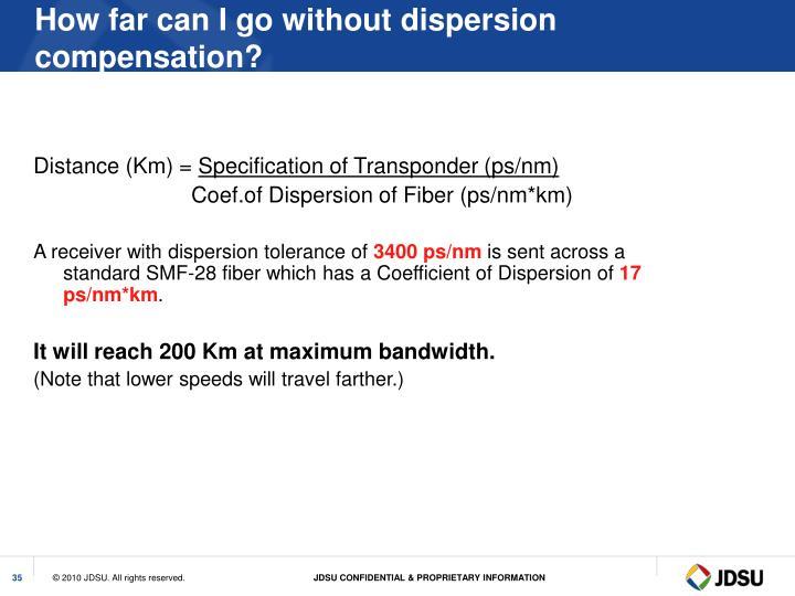 Distance (Km) =