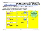 rrm extension options