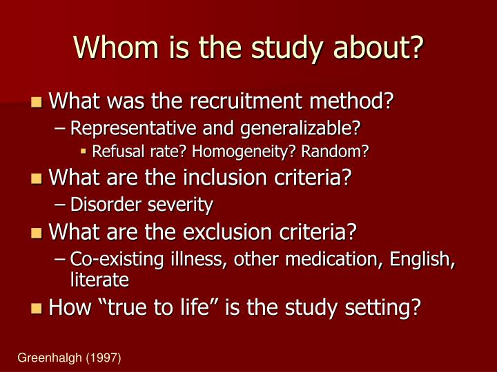 Whom is the study about?