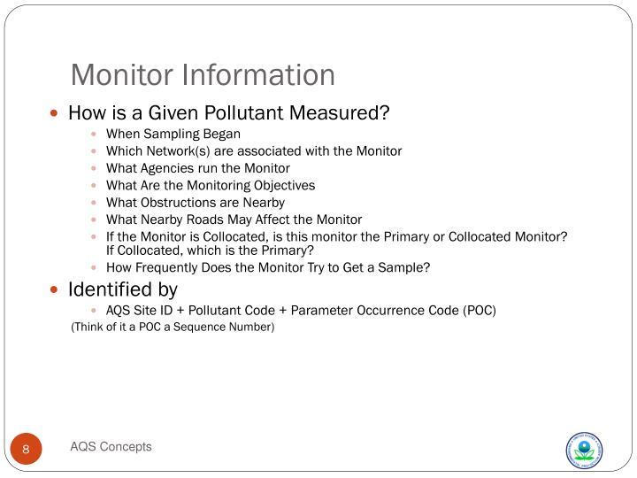 Monitor Information