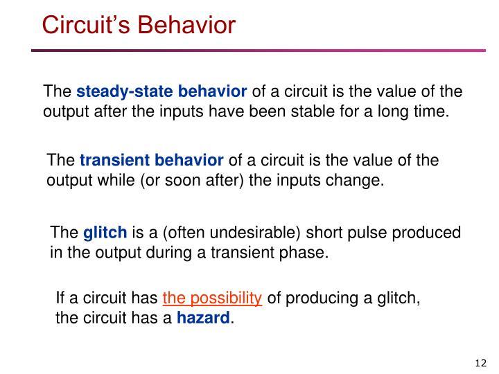 Circuit's Behavior