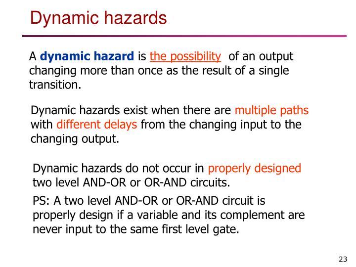 Dynamic hazards do not occur in