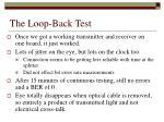 the loop back test