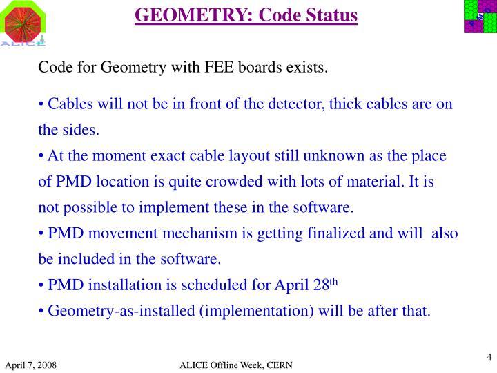 GEOMETRY: Code Status