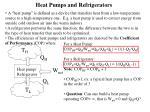 heat pumps and refrigerators