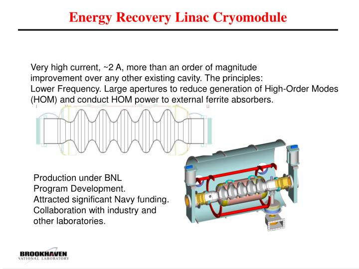 Energy Recovery Linac Cryomodule