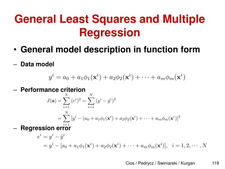 General Least Squares and Multiple Regression