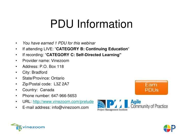 PDU Information
