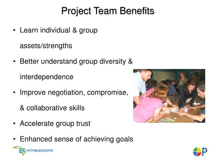 Project Team Benefits