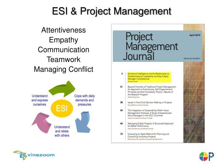 ESI & Project Management