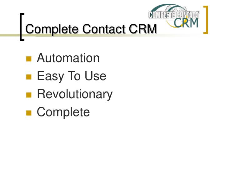 Complete contact crm1