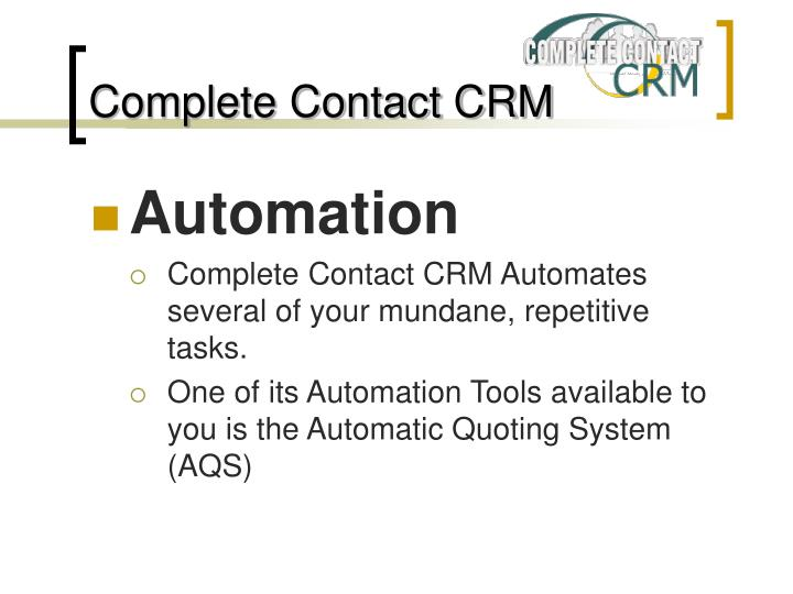 Complete contact crm2