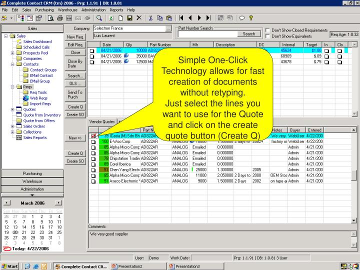 Simple One-Click Technology allows for fast creation of documents without retyping.