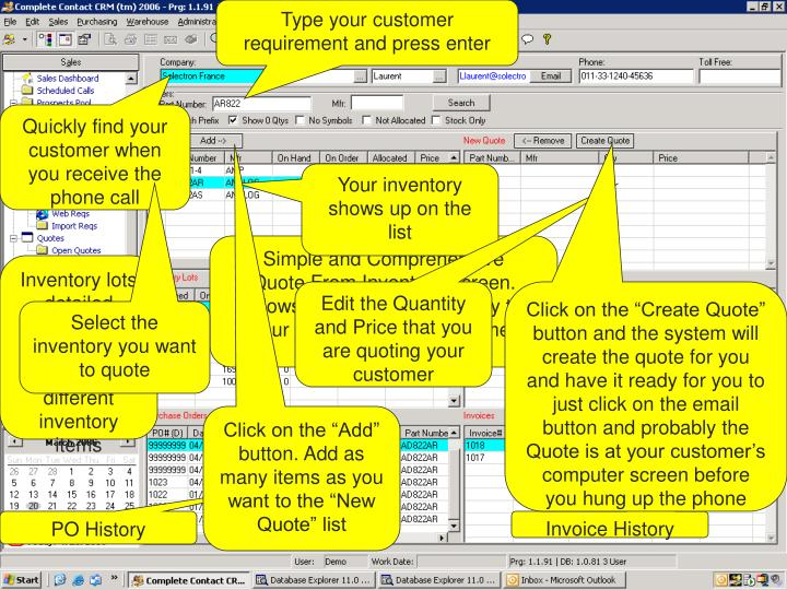 Type your customer requirement and press enter