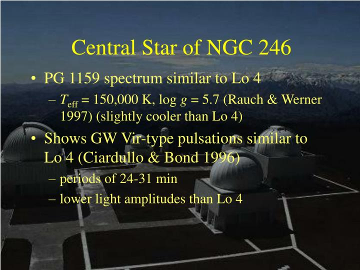 Central Star of NGC 246