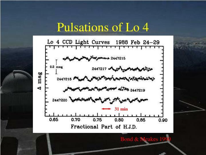 Pulsations of Lo 4