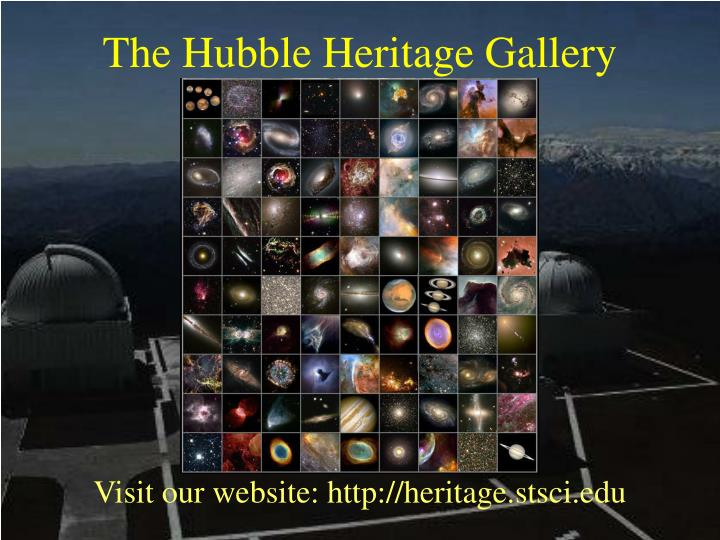 The Hubble Heritage Gallery