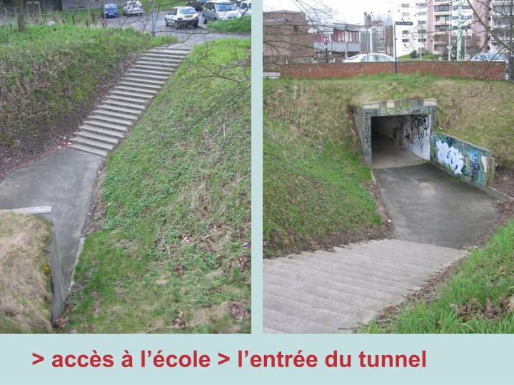 > accès à l'école > l'entrée du tunnel
