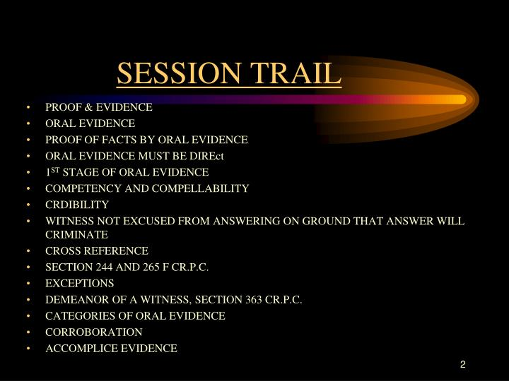 Session trail