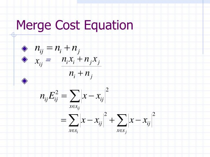Merge cost equation1
