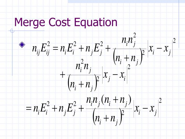 Merge Cost Equation