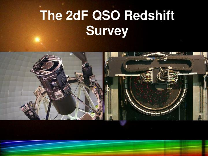 The 2dF QSO Redshift Survey