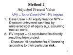 method 2 adjusted present value