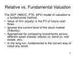 relative vs fundamental valuation