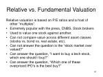 relative vs fundamental valuation1