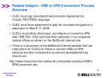 related subject une to spa conversion process overview