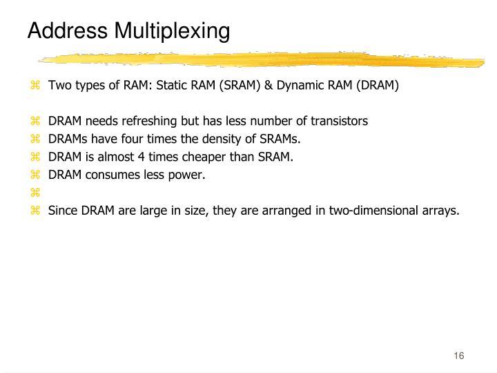 Address Multiplexing