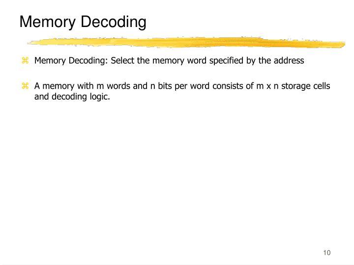 Memory Decoding
