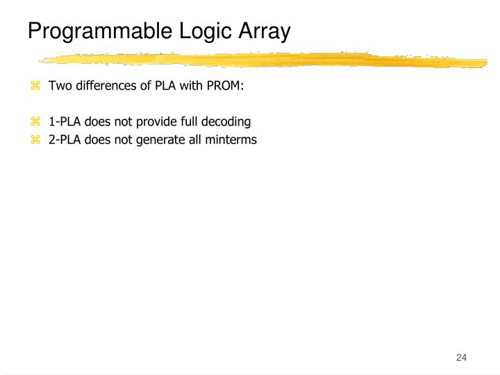 Programmable Logic Array