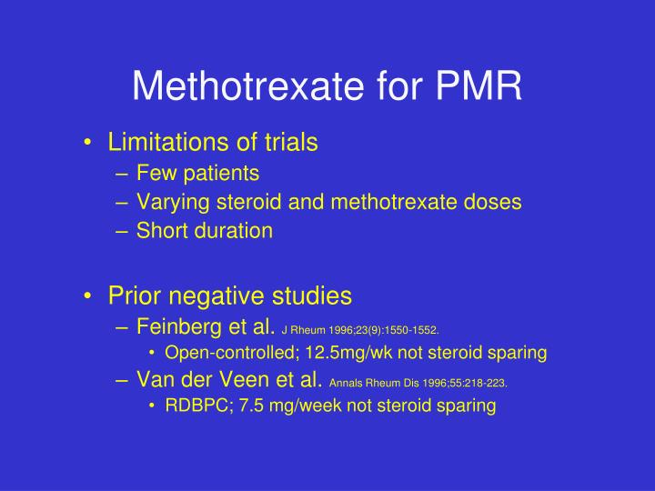 Methotrexate for PMR