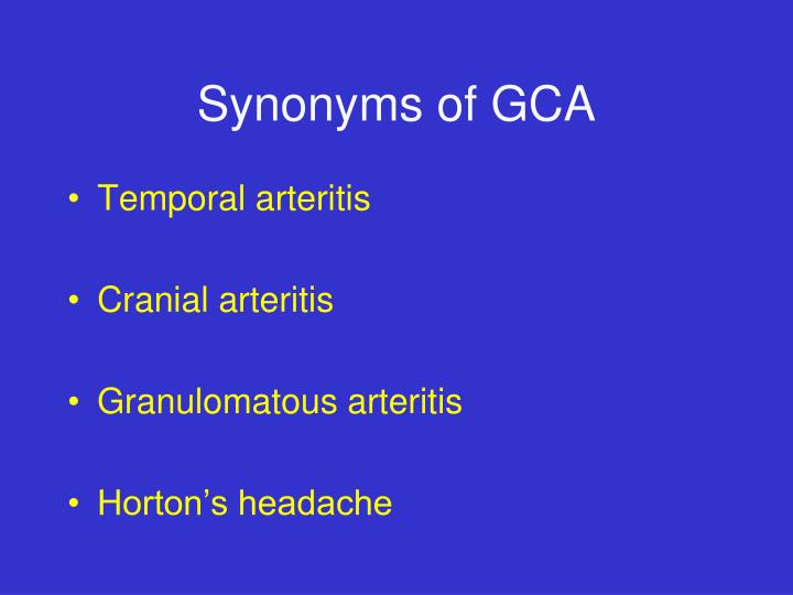 Synonyms of GCA