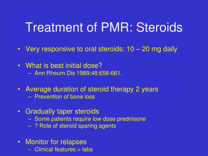 Treatment of PMR: Steroids