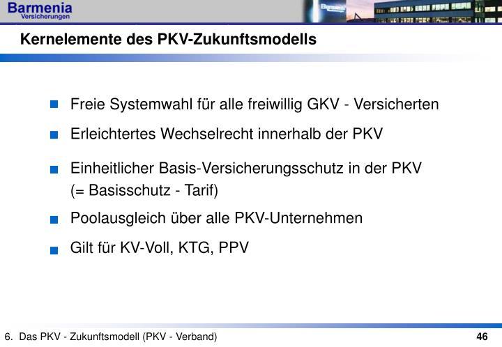 Kernelemente des PKV-Zukunftsmodells