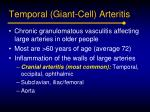 temporal giant cell arteritis
