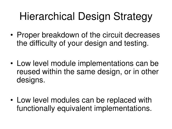 Hierarchical design strategy1