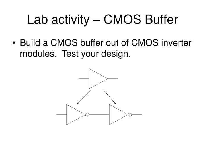 Lab activity – CMOS Buffer