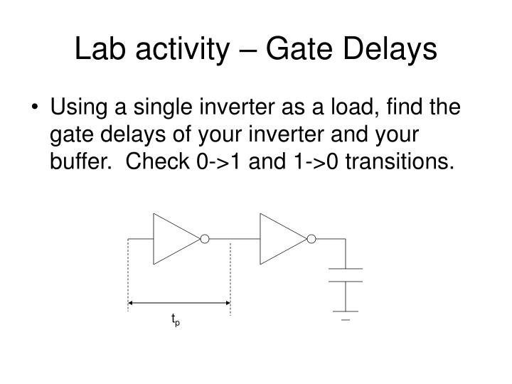Lab activity – Gate Delays