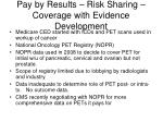 pay by results risk sharing coverage with evidence development