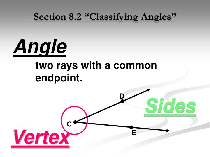 "Section 8.2 ""Classifying Angles"""