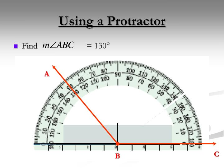 Using a Protractor