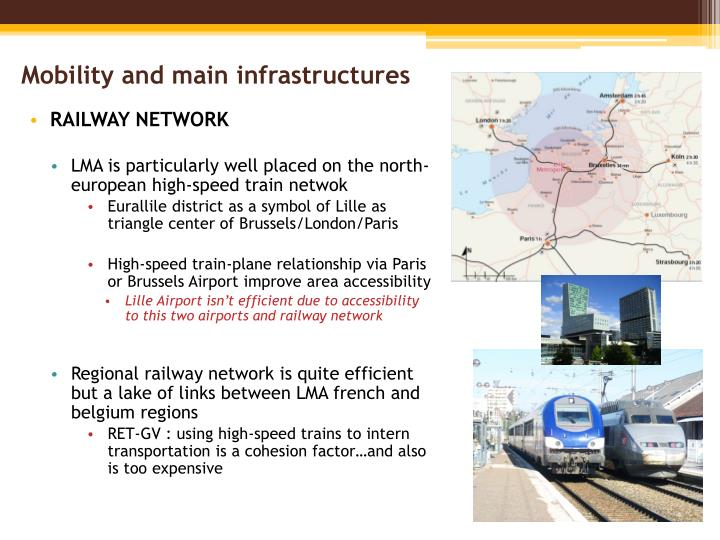 Mobility and main infrastructures