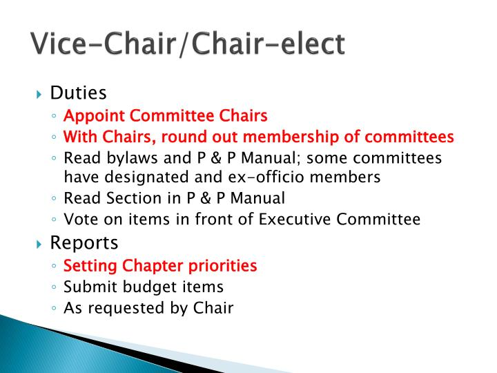Vice-Chair/Chair-elect