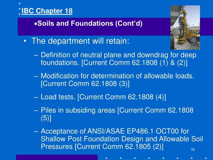 IBC Chapter 18