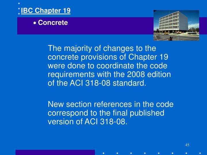 IBC Chapter 19