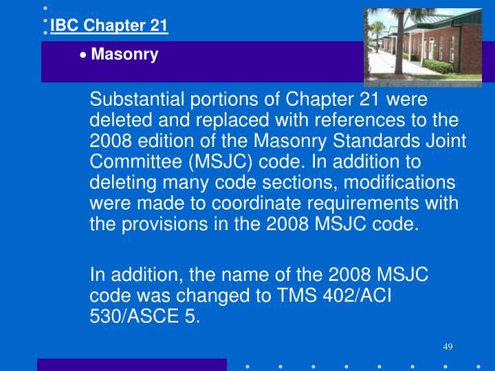 IBC Chapter 21