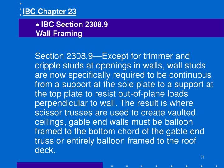 IBC Chapter 23